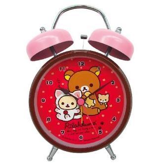 นาฬิกาปลุกตั้งโต๊ะ Rilakkuma สีแดง