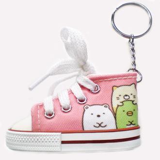 พวงกุญแจรองเท้า Sumikko Gurashi สีชมพู