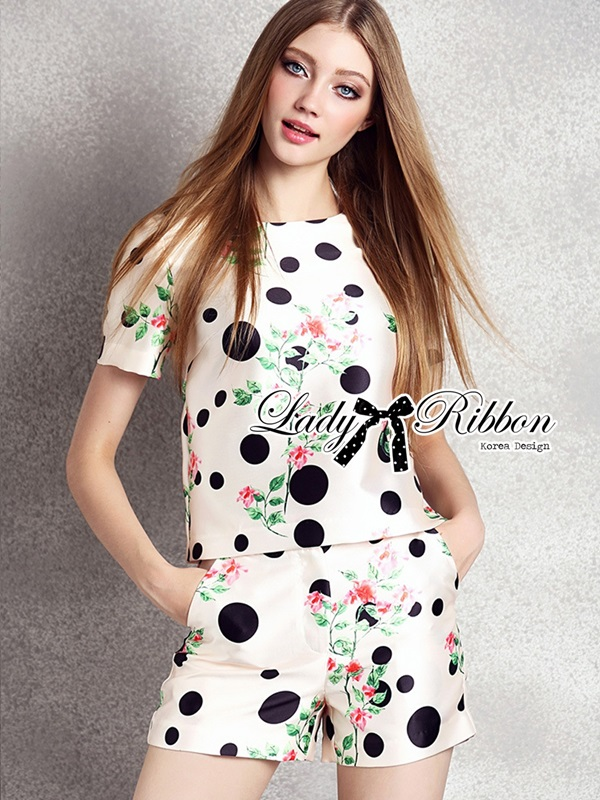 Lady Ribbon Cotton Satin Ensemble Set