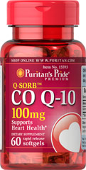 Puritan's Pride Co Q10 100 mg 60 Softgels สุดยอดสารต้านอนุมูลอิสระ ที่สำคัญมากต่อกระบวนการสร้ารพลังงานซึ่งจำเป็นต่อระบบต่างๆในร่างกาย